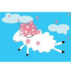 Sheep in the sky vector image vector image