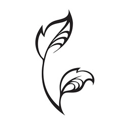 spring leaf isolated on white Color eco icon vector image