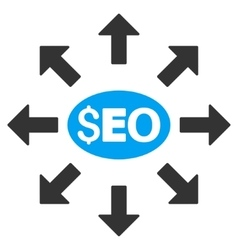 Seo distribution flat icon vector