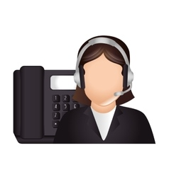 Call center and customer support design vector