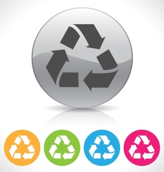 Recycle button vector