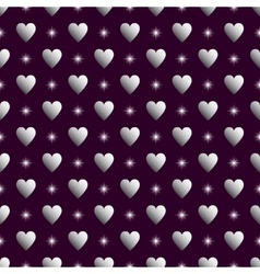 Purple silver seamless valentine background vector