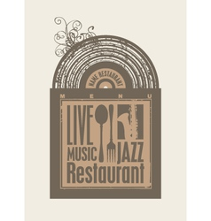 Restaurant music vector