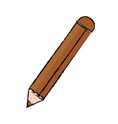 Wooden pencil school vector