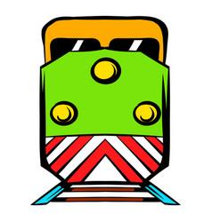 Locomotive icon cartoon vector
