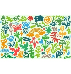 Flowers  spring - doodles set vector