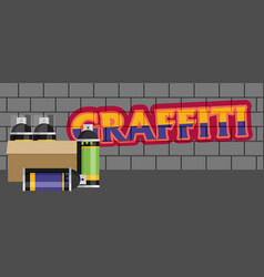Creative graffiti flat style vector