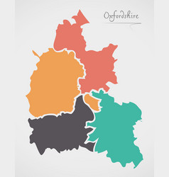 Oxfordshire england map with states and modern vector
