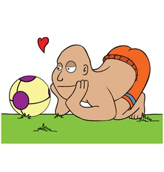 Football lover vector
