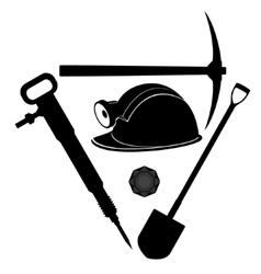 Miner tool vector image