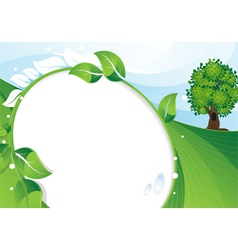 Eco concept background vector