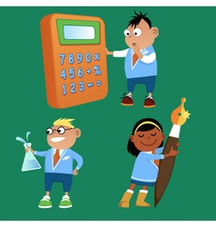 Elementary school vector image