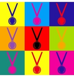 Medal simple icon vector