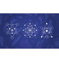 Abstract sacred geometry symbols set vector image