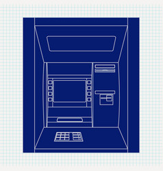 Atm bank machine automated teller machine vector