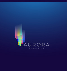 Aurora borealis abstract sign emblem or vector