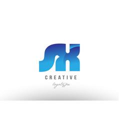 blue gradient sx s x alphabet letter logo vector image