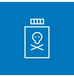 Bottle of poison line icon vector image vector image