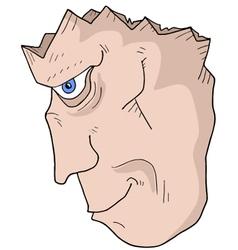 broken head vector image