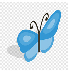Butterfly isometric icon vector