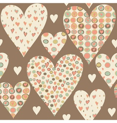 Cartoon hearts seamless pattern vector image vector image