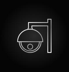 cctv camera silver outline icon or symbol vector image