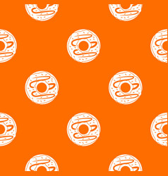 chocolate donut pattern seamless vector image