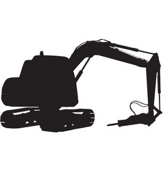 construction digger mechanical excavator vector image vector image