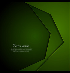 dark green corporate tech art background vector image vector image