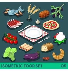 Diet Set 05 Food Isometric vector image