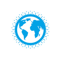 Earth globe sign icon vector