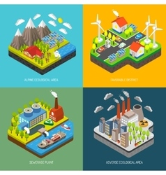 Environment pollution and protection vector
