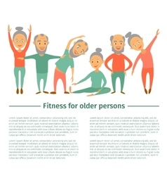 Fitness for older personsComplex Exercise vector image