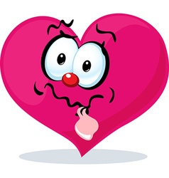 Funny heart grinning - vector