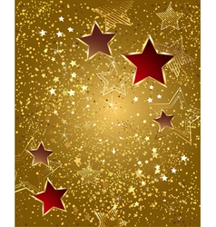Gold foil with stars vector