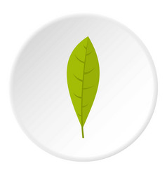 Green leaf icon circle vector