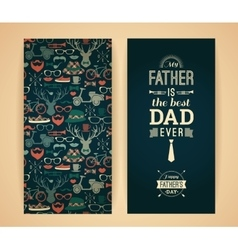 Happy Father s Day Card In Retro Style vector image vector image
