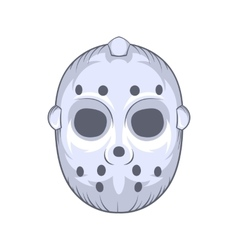 Hockey goalie mask icon cartoon style vector