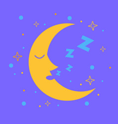 icon for children in the form of the moon vector image vector image