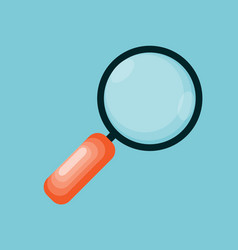 magnifying glass icon in modern flat style vector image