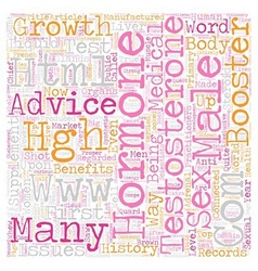 Male growth hormone text background wordcloud vector