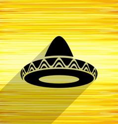 Mexican sombrero icon vector image
