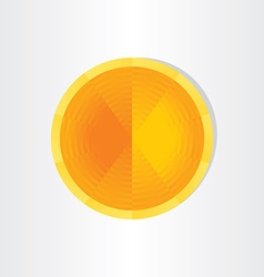 orange target abstract background vector image