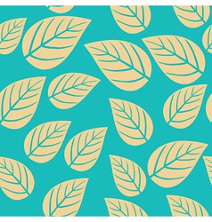 seamless leaf pattern Abstract ornament vector image