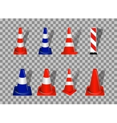 Set of Road signs Orange and Blue Badge vector image