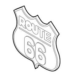 Sign route icon outline style vector image