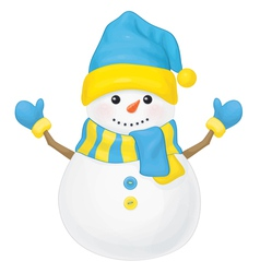 snowman ukraine vector image vector image