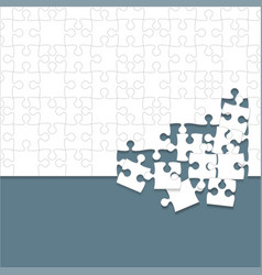some white puzzles pieces grey - jigsaw vector image vector image