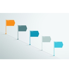 Timeline 3d Infographic 4 vector image vector image