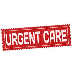 Urgent care grunge rubber stamp vector